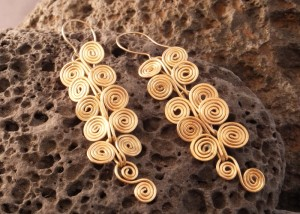 egyptian spiral earrings