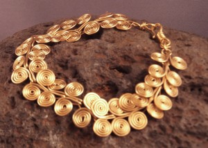 egyptian spiral necklace