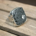 lava ring with cz