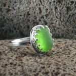 seaglass tudor ring